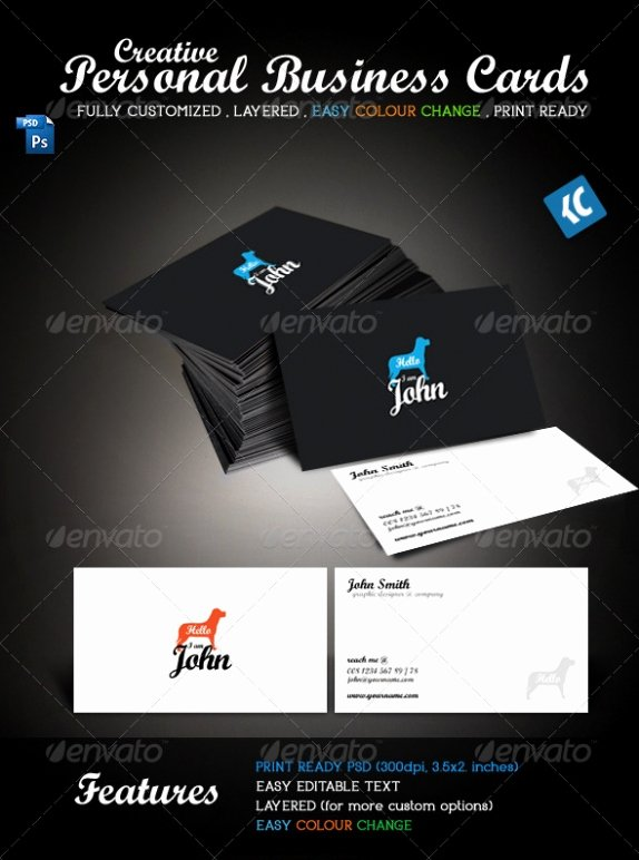 Personal Business Cards Template New Cardview – Business Card & Visit Card Design