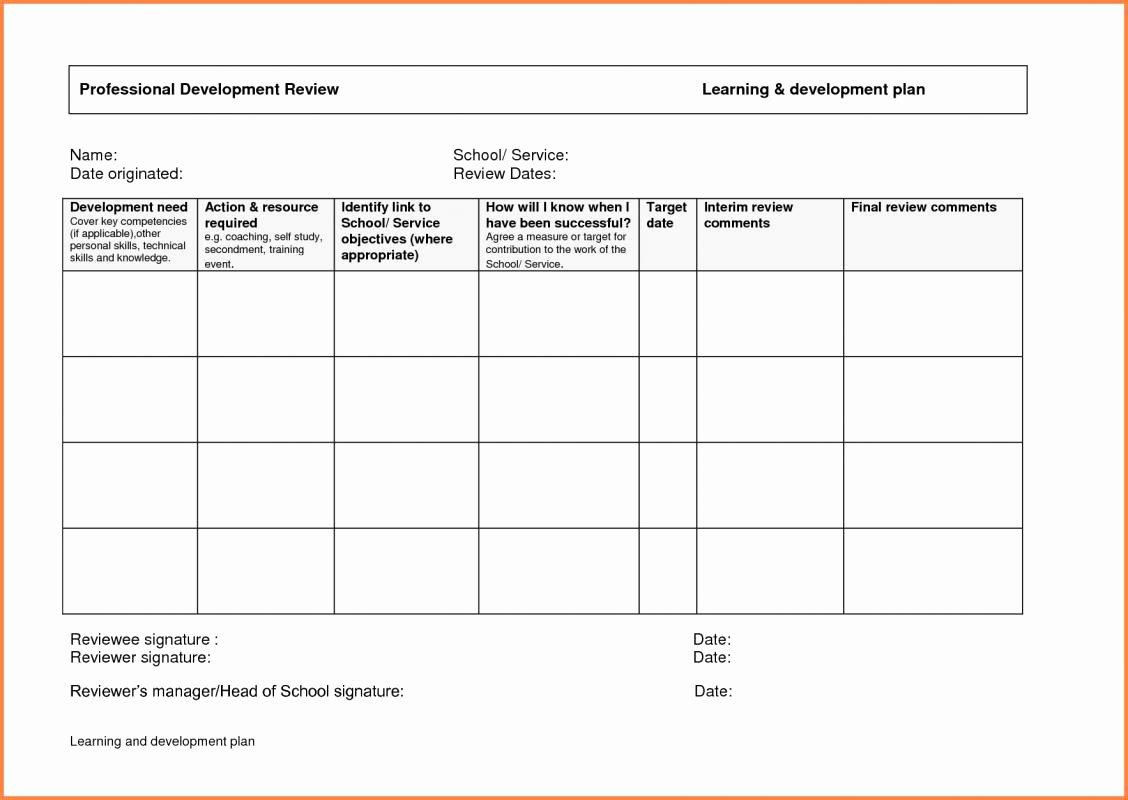 career development plan example