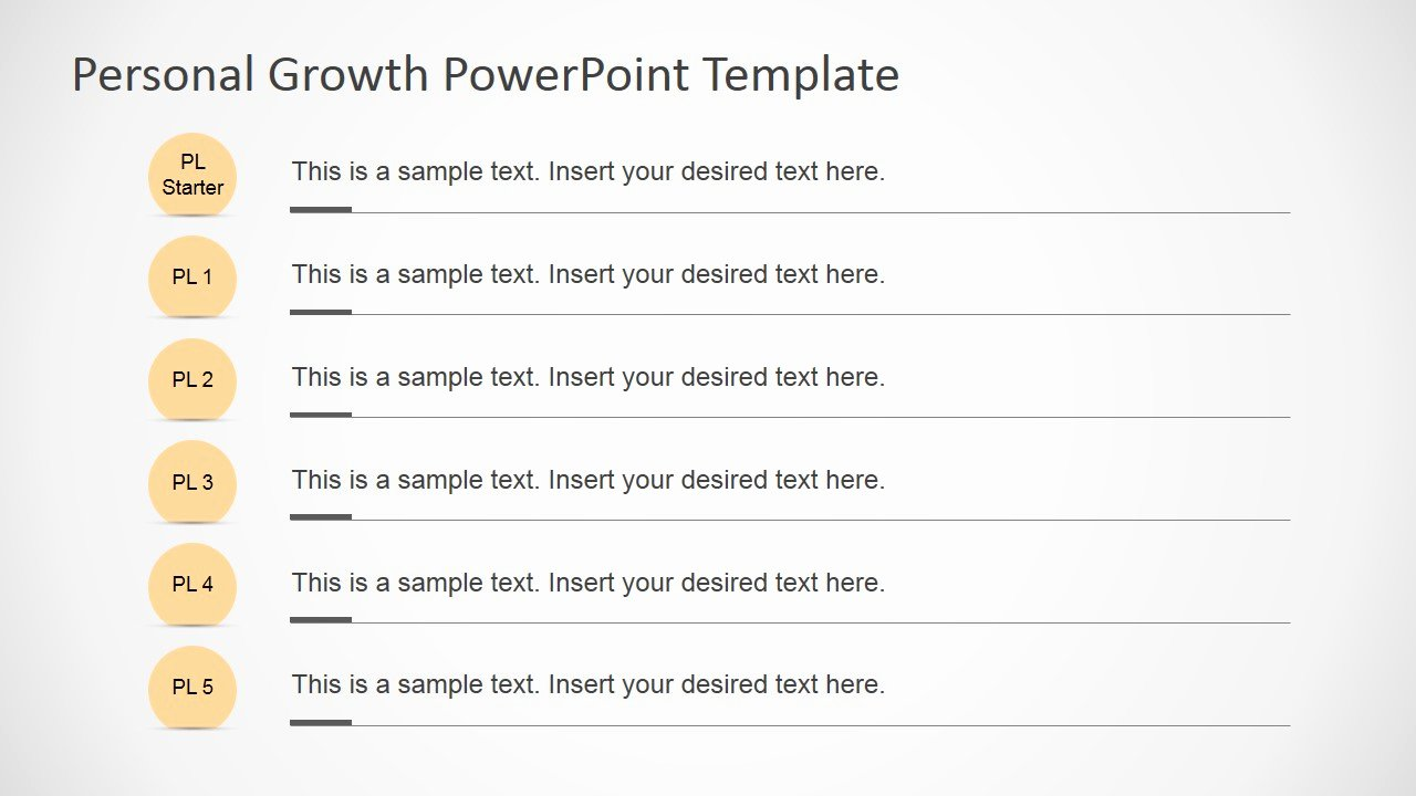 Personal Growth Plan Template Awesome Personal Growth Powerpoint Template Slidemodel