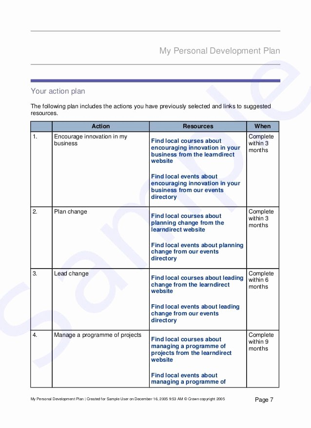 Personal Growth Plan Template Best Of top 5 Free Personal Development Plan Templates Word