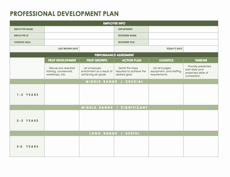 Personal Growth Plan Template New Free Microsoft Fice Templates Smartsheet