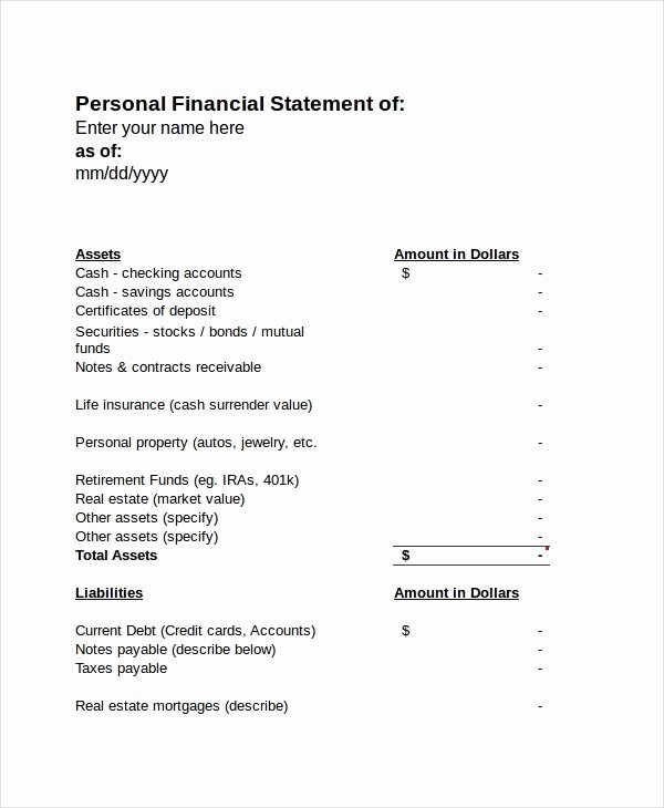 Personal Income Statement Template Inspirational In E Statement Free Pdf Excel Word Documents