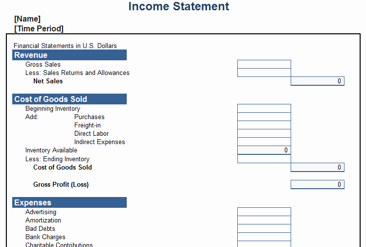 Personal Income Statement Template New In E Statement Templates World Maps and Letter