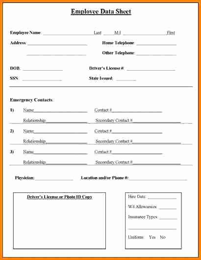 Personal Info forms Template Best Of Personal Information Sheet Template Bestsellerbookdb