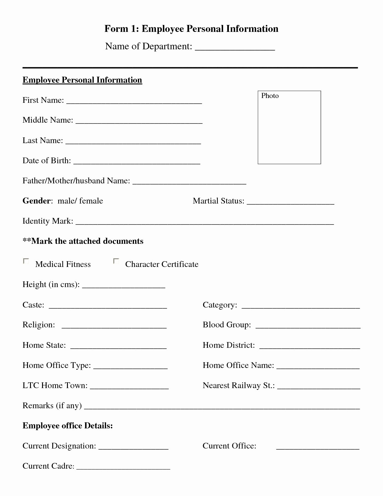 Personal Info forms Template Best Of Personal Information Template Portablegasgrillweber