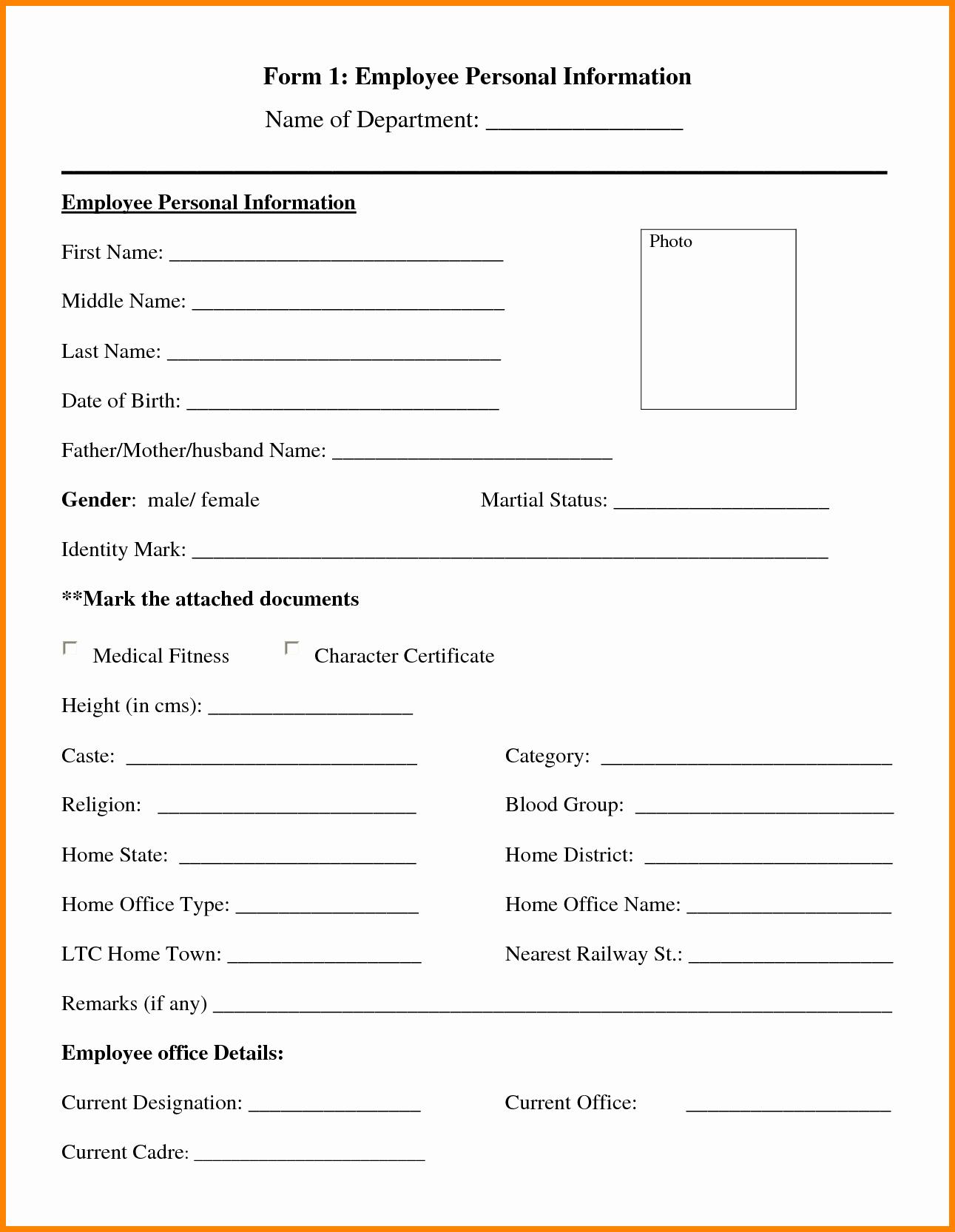 Personal Information Sheet Template Beautiful 12 Personal Information Sheet Template Word