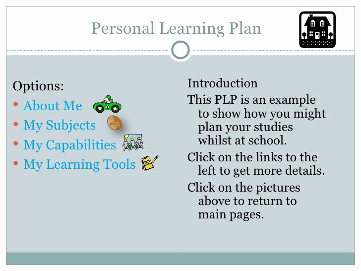 Personal Learning Plan Template Awesome Plp