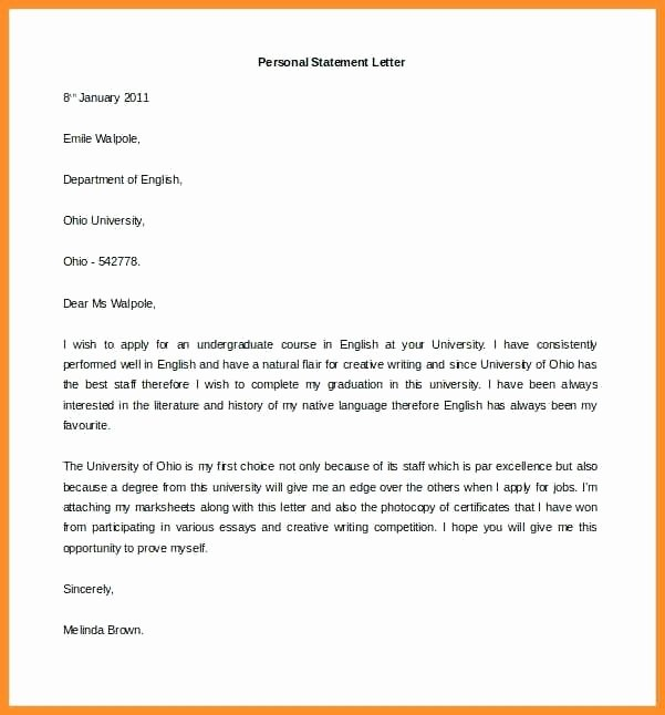 Personal Letter Template Word Luxury Personal Letter Template Free Sample Example format