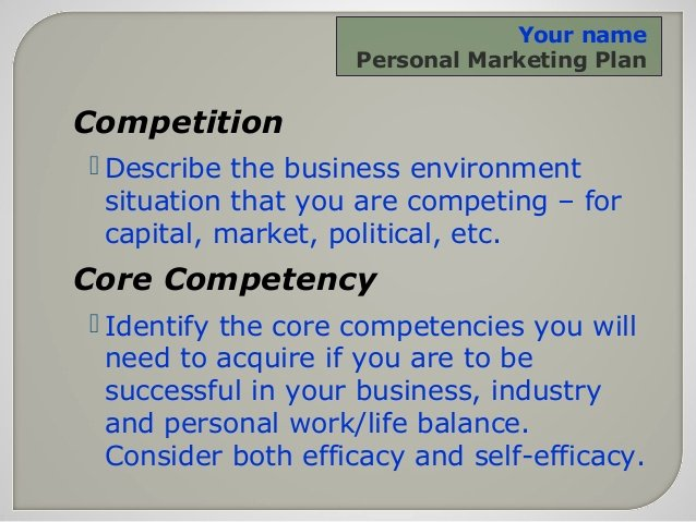 Personal Marketing Plan Template Best Of Personal Marketing Plan for the Small Business Owner