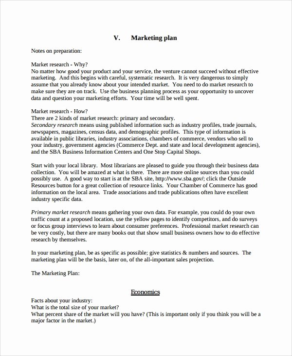 Personal Marketing Plan Template Fresh 7 Personal Business Plan Templates