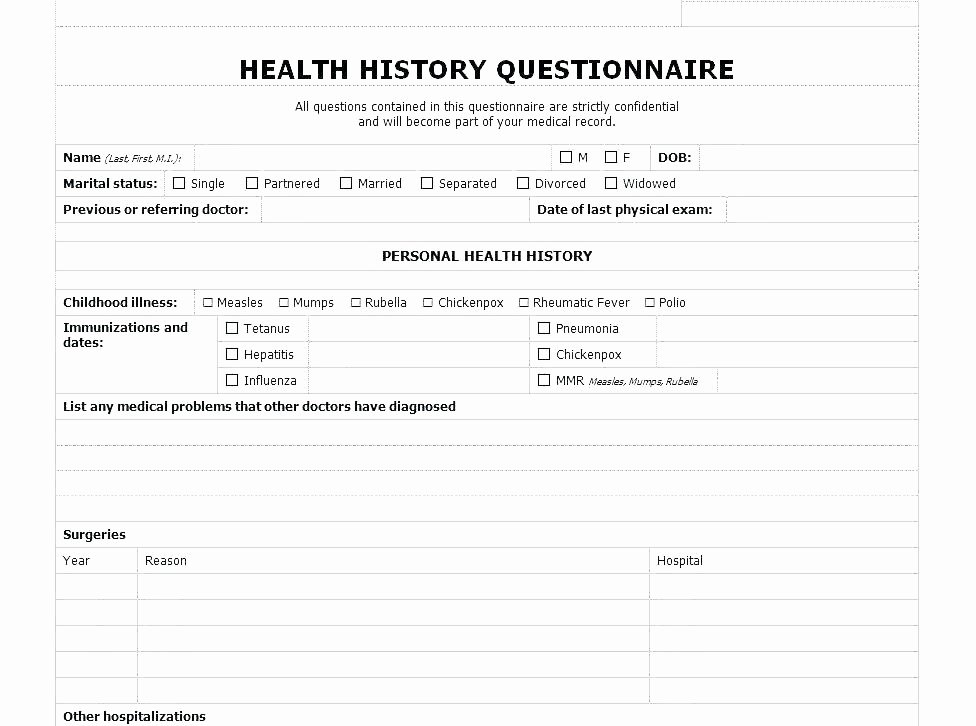 Personal Medical History Template Lovely Payment Record Template Excel Templates C Performance