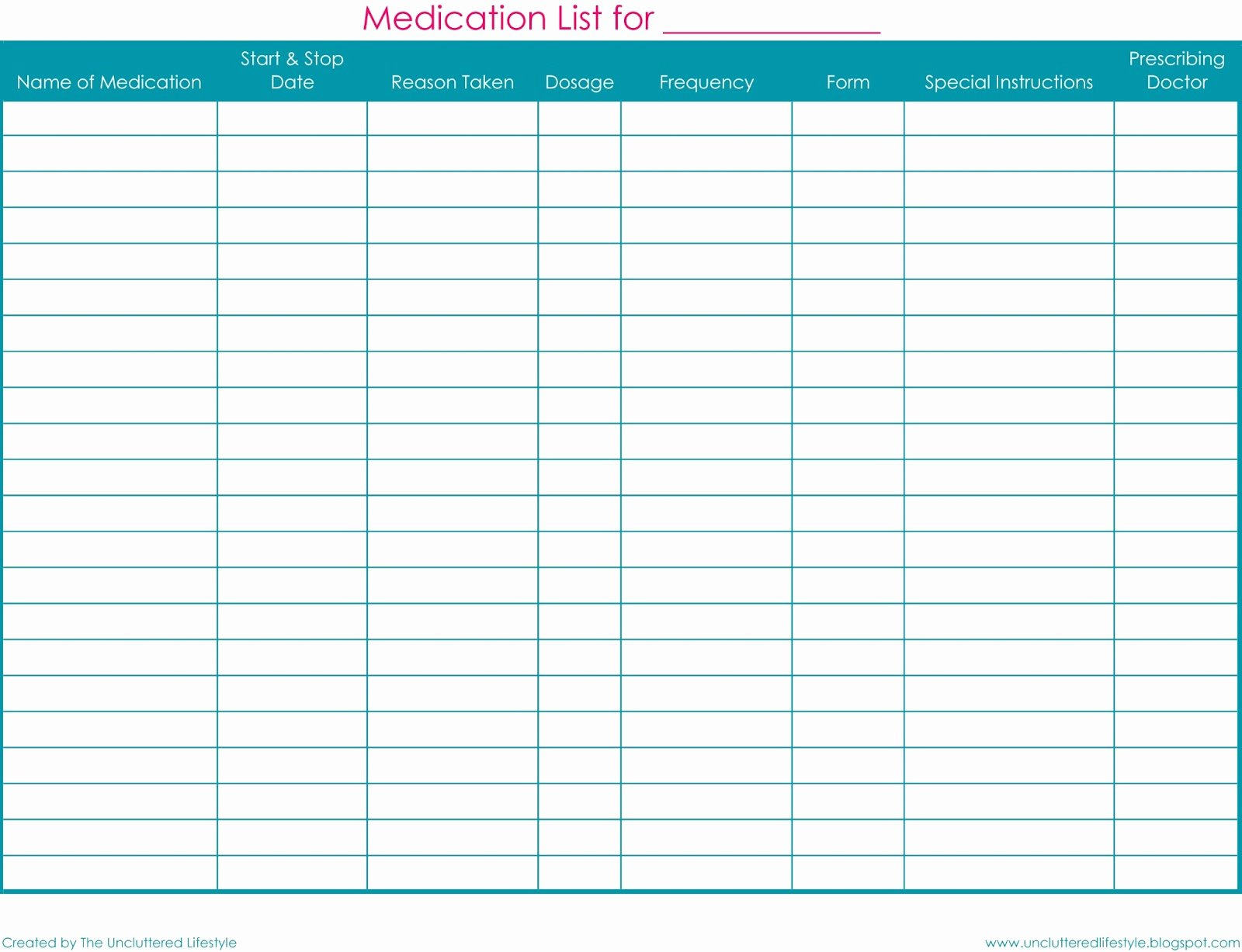 Personal Medication List Template Awesome Finally Here Home Management Binder Printables Find