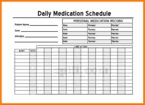 Personal Medication List Template Elegant Blank Personal Medication List Template Daily to