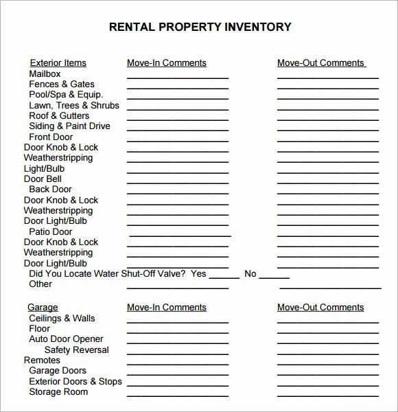 Personal Property Inventory Template Awesome 10 Property Inventory Templates