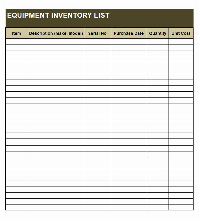 Personal Property Inventory Template Awesome Personal Property Inventory Template Beautiful Inventory