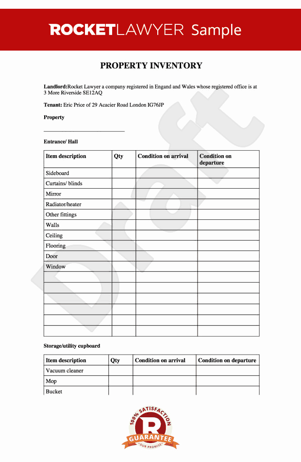 Personal Property Inventory Template Beautiful Inventory Property Inventory Inventory Template