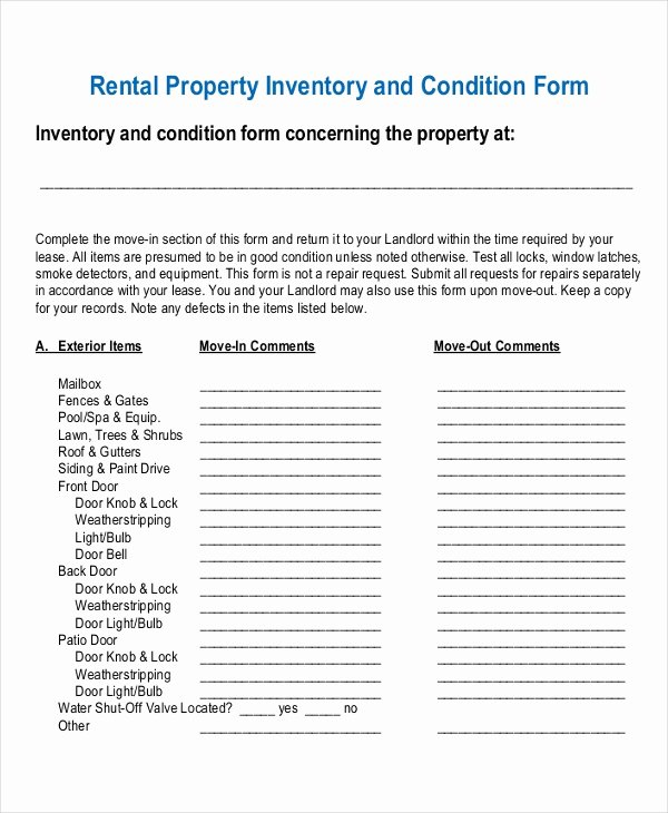 Personal Property Inventory Template Inspirational 17 Inventory Templates Free Sample Example format