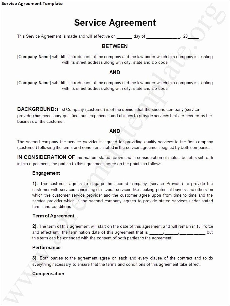 Personal Service Contract Template Elegant Agreement Template Category Page 1 Efoza