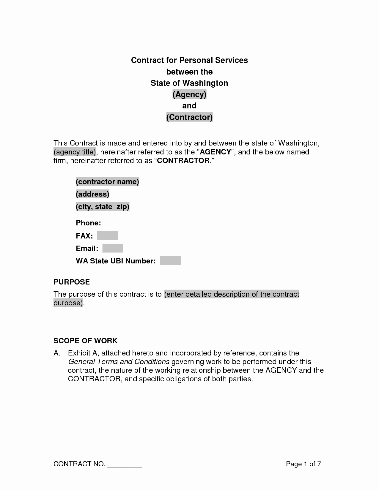 Personal Service Contract Template Unique 10 Best Of Personal Contract Agreement Sample