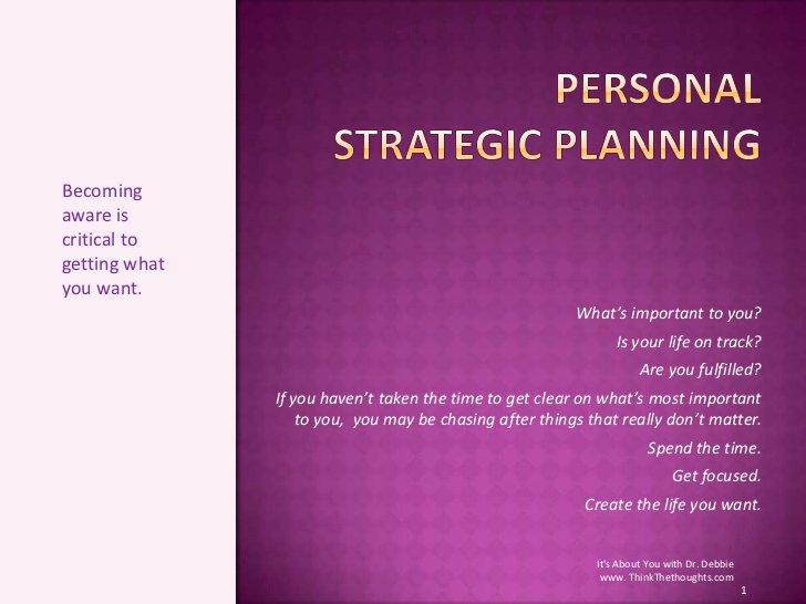 Personal Strategic Plan Template Beautiful Personal Strategic Planning