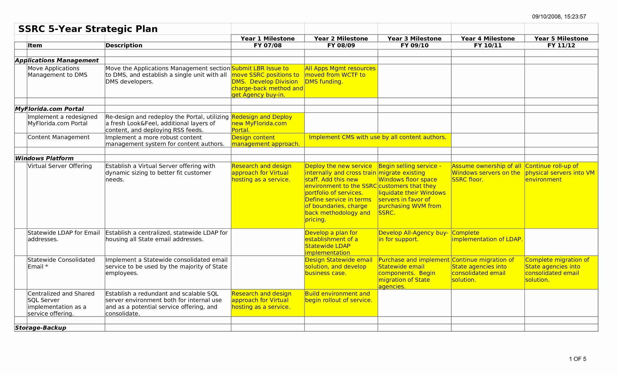 Personal Strategic Plan Template Fresh 5 Year Plan Template Beepmunk