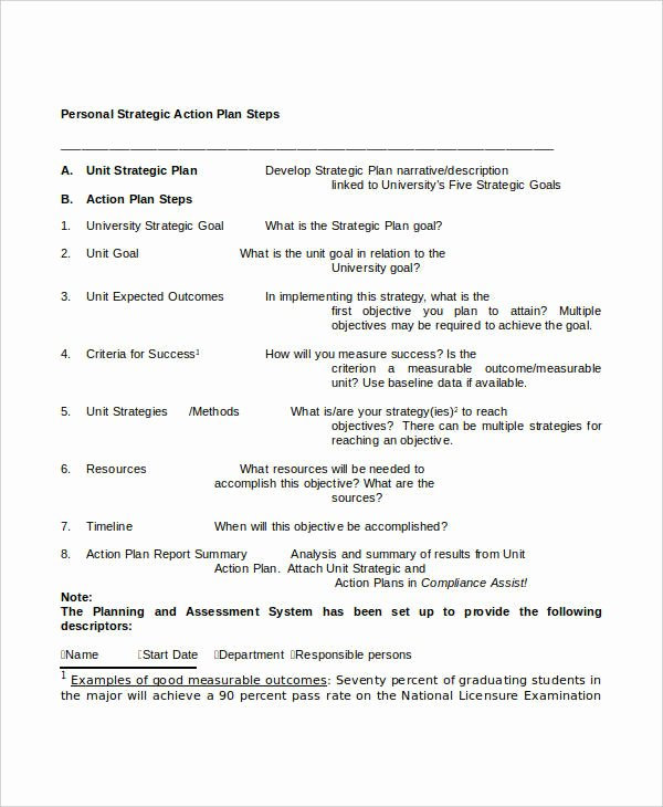 Personal Strategic Plan Template New Free Strategic Plan 45 Free Word Pdf Ppt format