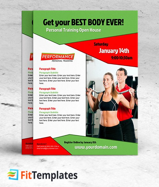 Personal Trainer Flyer Template Awesome 27 Of Personal Trainer Flyer Template