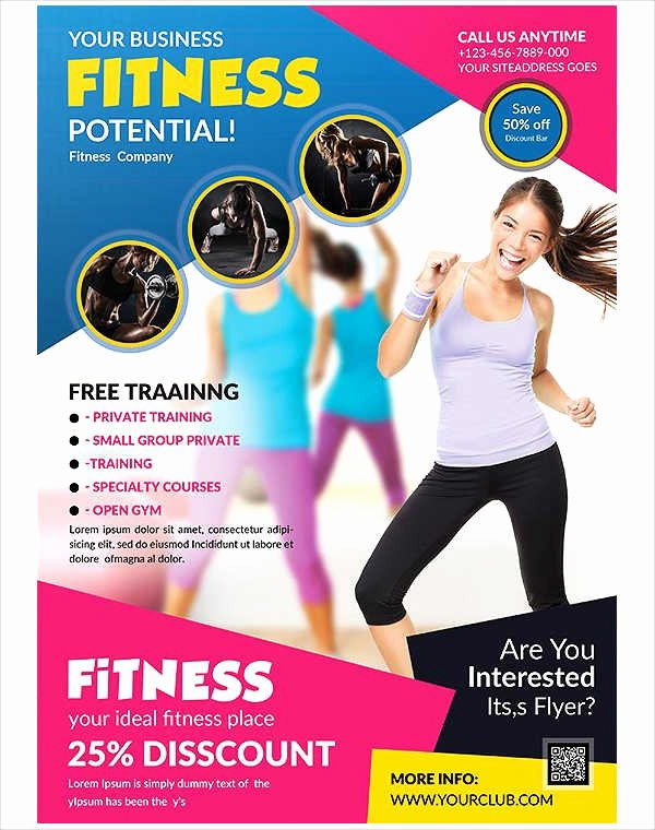 Personal Trainer Flyer Template Awesome 58 Fitness Flyer Templates Psd Word Ai Eps Vector