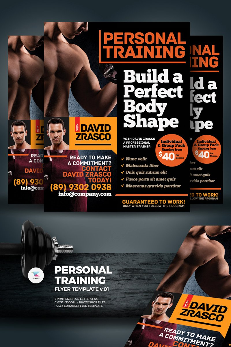 Personal Trainer Flyer Template Awesome Personal Training Flyer Corporate Identity Template
