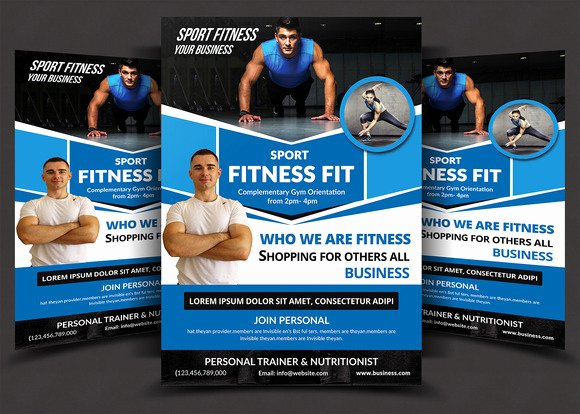 Personal Trainer Flyer Template Beautiful Fitness Flyer Template Flyer Templates On Creative Market
