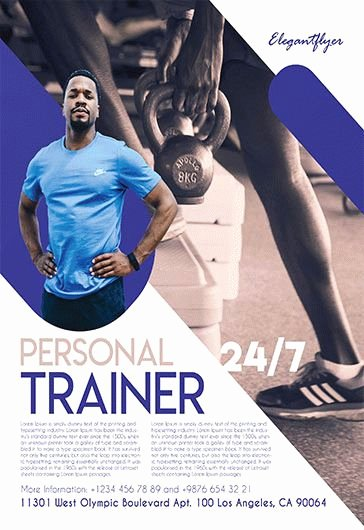Personal Trainer Flyer Template Beautiful Fitness Gym – Free Flyer Psd Template – by Elegantflyer