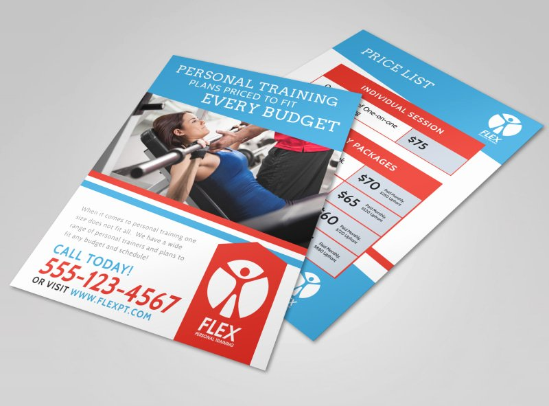 Personal Trainer Flyer Template Beautiful Personal Training Pricing Flyer Template