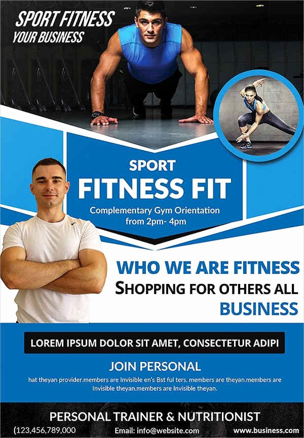 Personal Trainer Flyer Template Fresh 23 Fitness Flyer Designs Psd Word Publisher