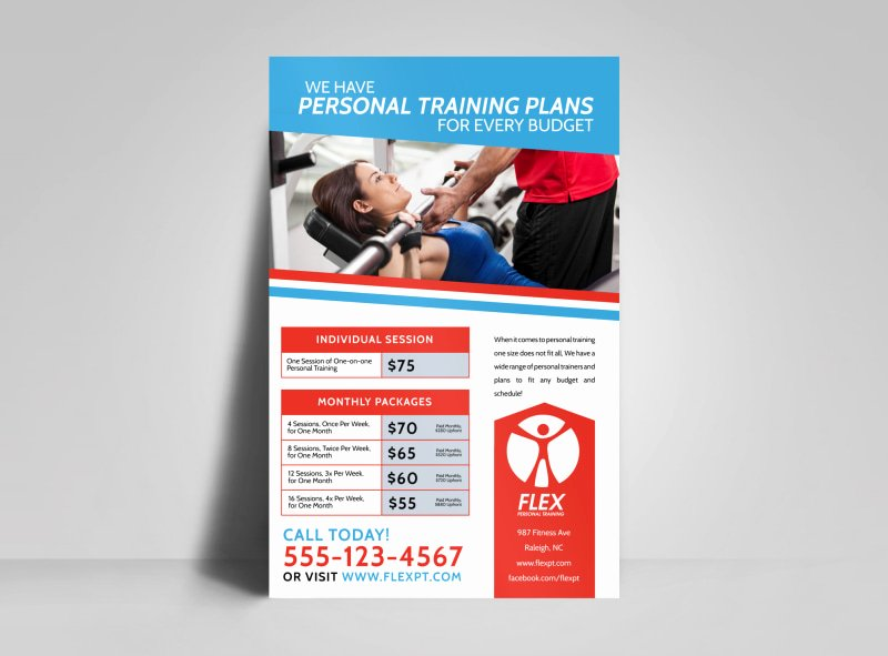 Personal Trainer Flyer Template Fresh Personal Trainer Pricing Poster Template