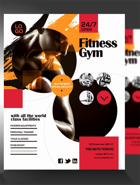 Personal Trainer Flyer Template Inspirational 36 Fitness Flyer Templates Word Psd Ai formats