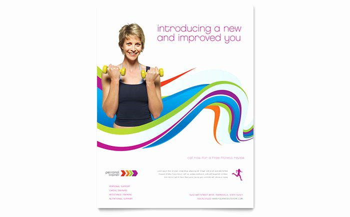 Personal Trainer Flyer Template Lovely Personal Trainer Flyer Template Design