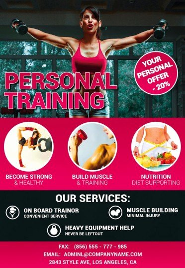 Personal Trainer Flyer Template New Personal Training Psd Flyer Template 8298 Styleflyers