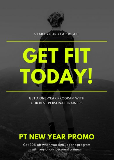 Personal Trainer Flyer Template Unique Fitness Flyer Templates Canva