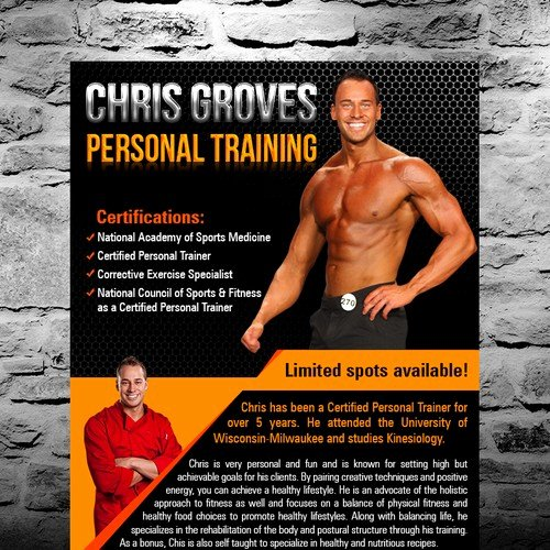 Personal Trainer Flyer Template Unique Personal Trainer High End Cliental