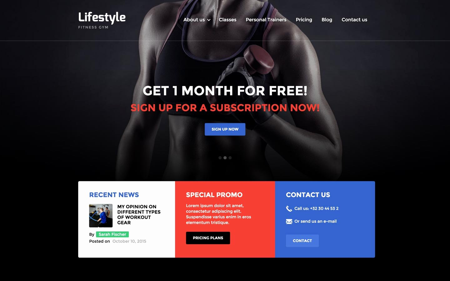 Personal Trainer Website Template Awesome Lifestyle Gym HTML5 Responsive Website Template