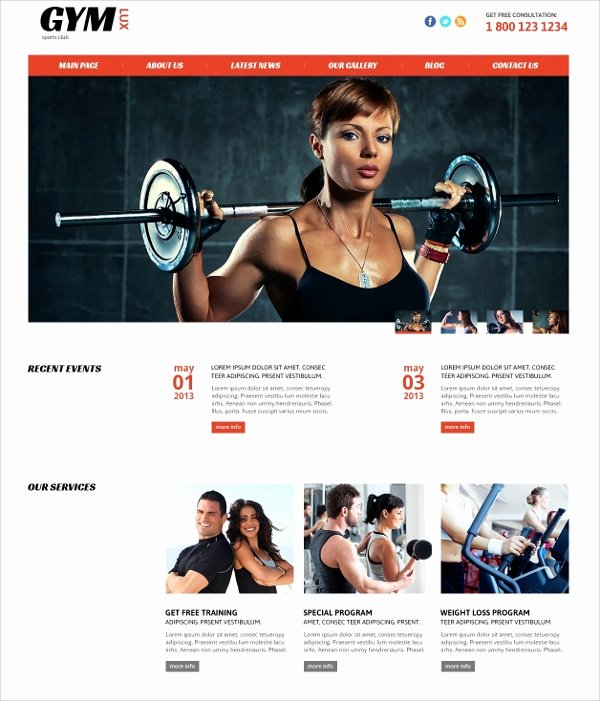 Personal Trainer Website Template Beautiful 28 Gym & Fitness Website themes & Templates