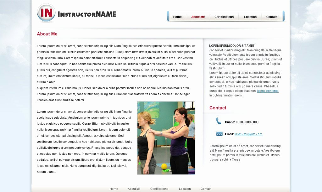 Personal Trainer Website Template Beautiful Fitness Web Template 24