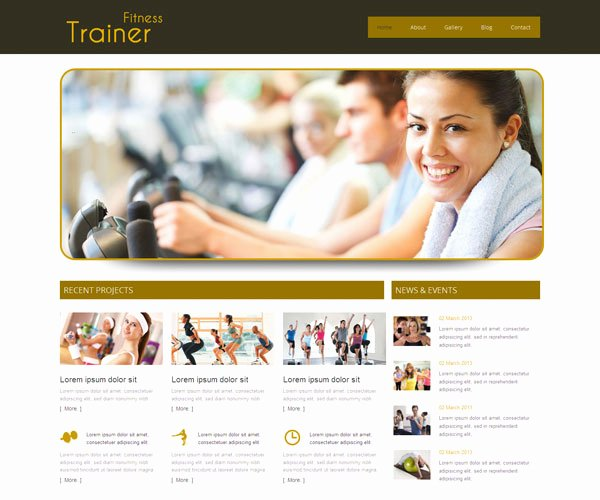 free personal trainer website template
