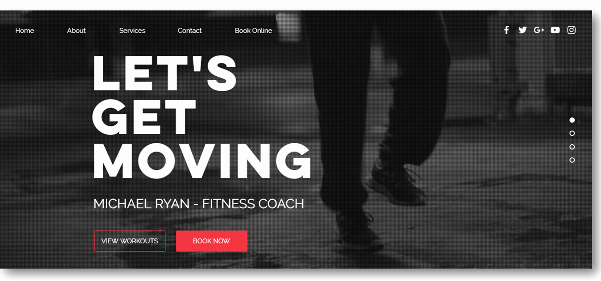 Personal Trainer Website Template Best Of Personal Trainer Website Design [10 Professional Templates