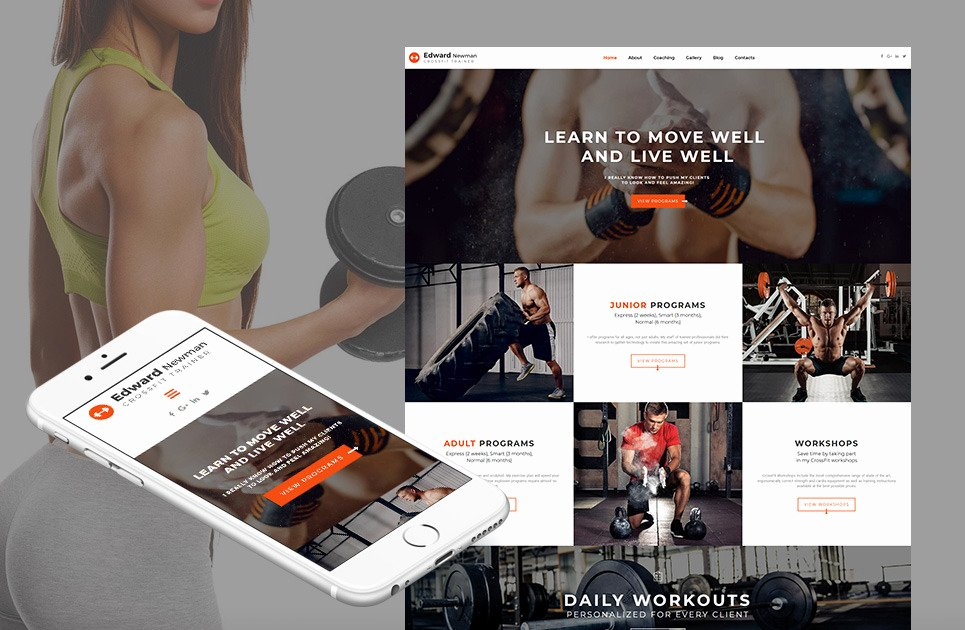 Personal Trainer Website Template Best Of Personal Trainer Website Template for Crossfit Instructor