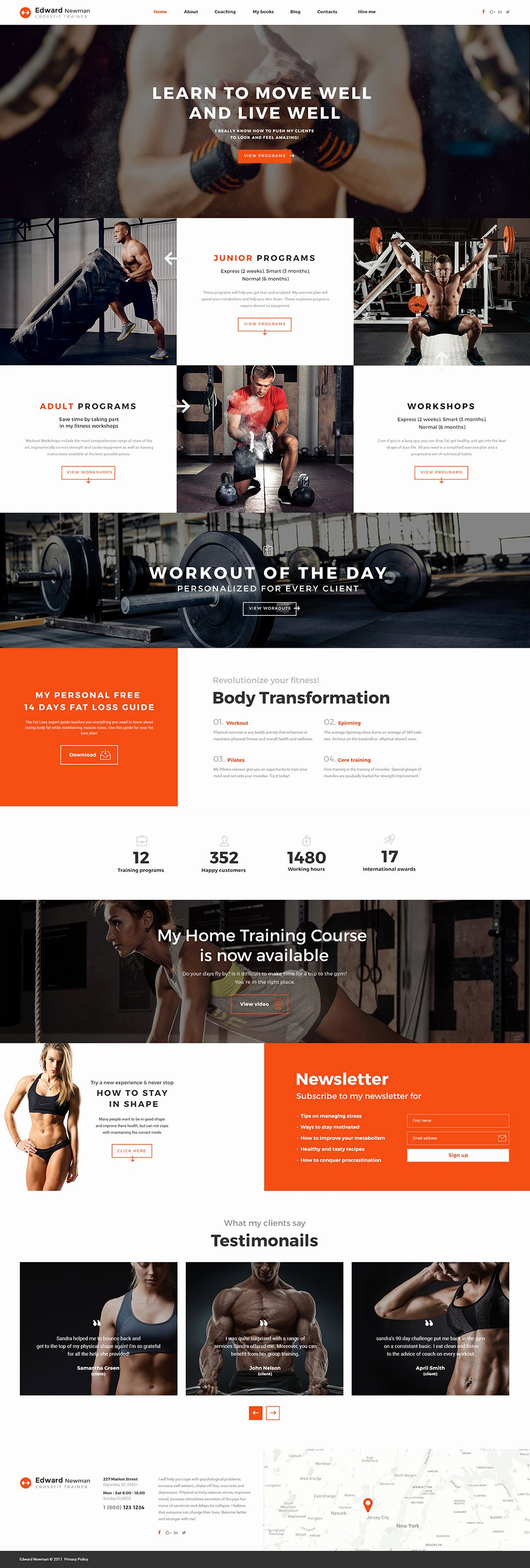 Personal Trainer Website Template Inspirational Personal Trainer Web Template