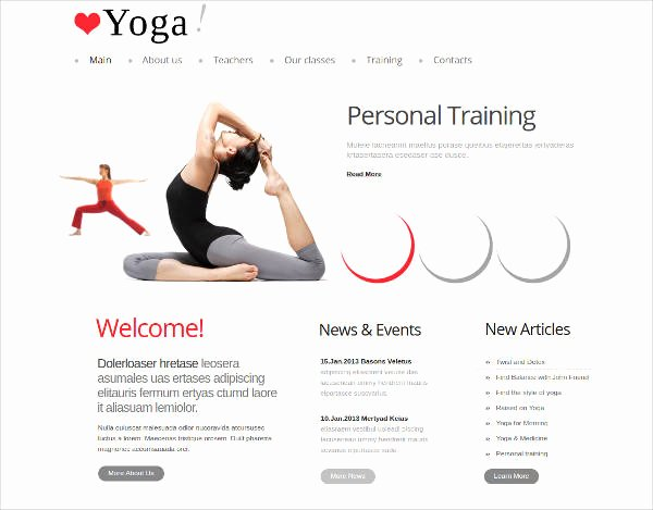 Personal Trainer Website Template Lovely 25 Yoga Website themes & Templates