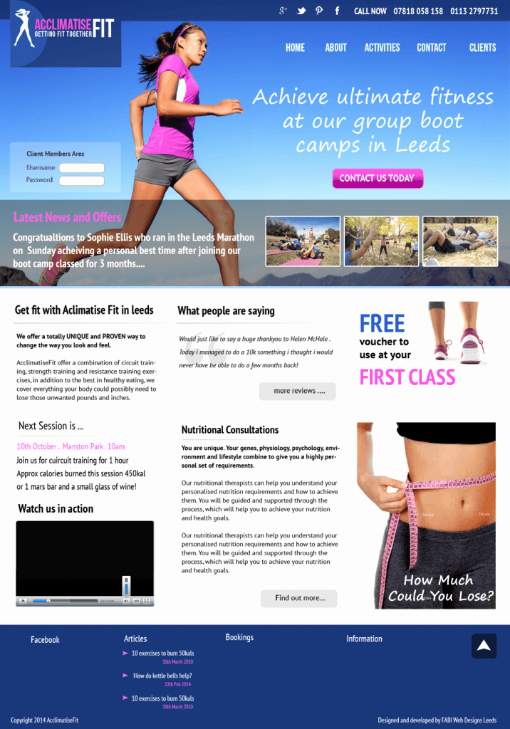 Personal Trainer Website Template Lovely Personal Trainer Website Template Freelance Web Designer