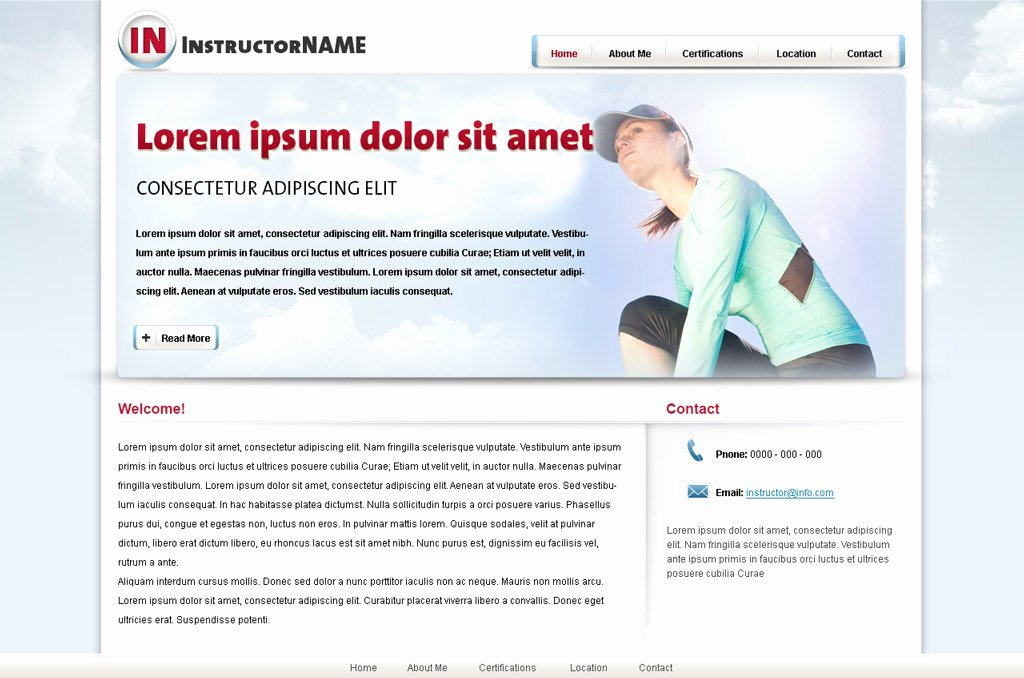 Personal Trainer Website Template Luxury Fitness Web Template 24