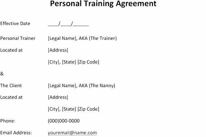 Personal Training Agreement Template Awesome Printable Sample Release and Waiver Liability Agreement